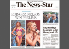 Louisiana News-Star Front Page Supreme Court Gay Marriage cropped w border