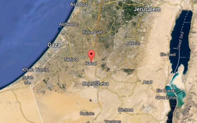 Negev Bedouin Rahat Regional Satellite Map