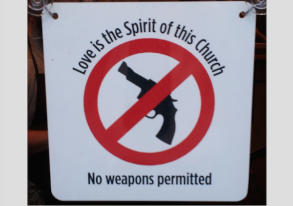 church no guns sign