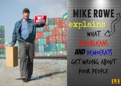 mike rowe poverty work dirty jobs republicans poor people liberals democrats explains what republicans and democrats get wrong about poor people