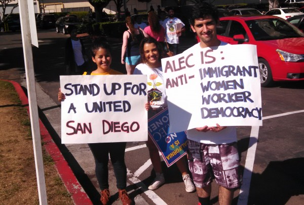 ALEC Protest San Diego Anti-Immigrant