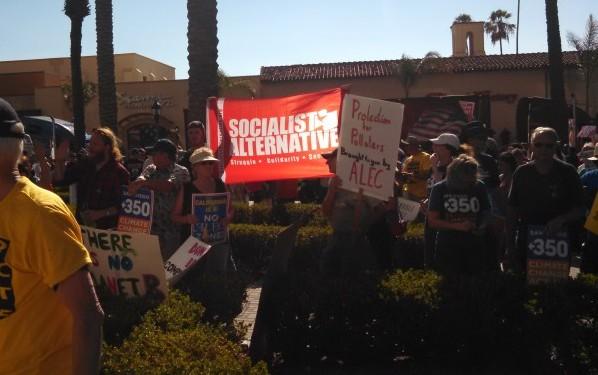 ALEC Protest San Diego Socialist Alternative