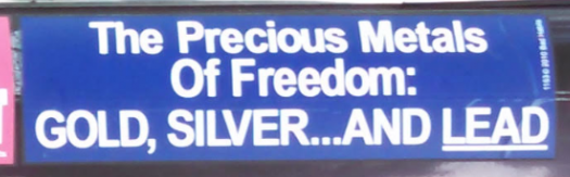 Bumper Stickers - Ithaca - Metals of Freedom Close up