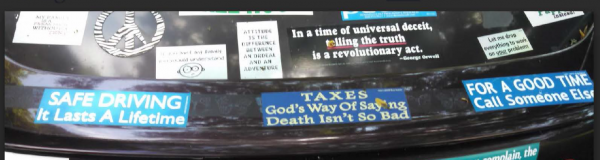 Bumper Stickers - Ithaca - Read English Thank Soldier Part 4
