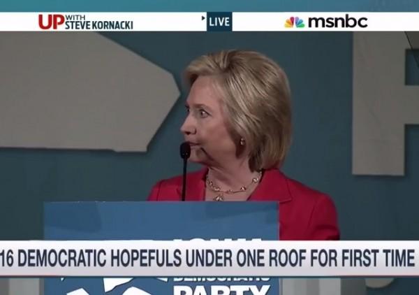 Hillary MSNBC pic