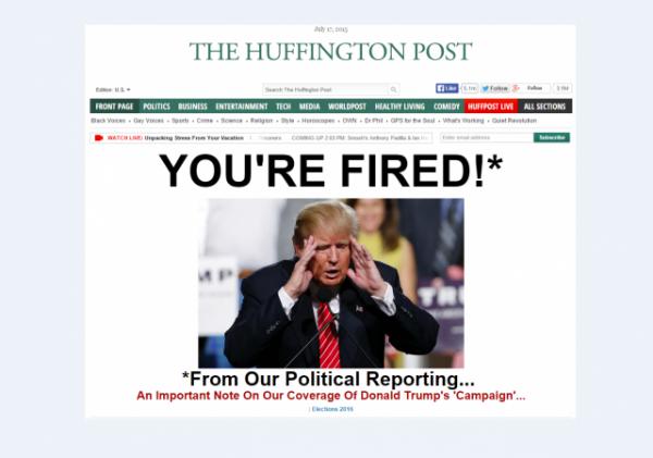 HuffPo Donald Trump Politics Entertainment Homepage w border