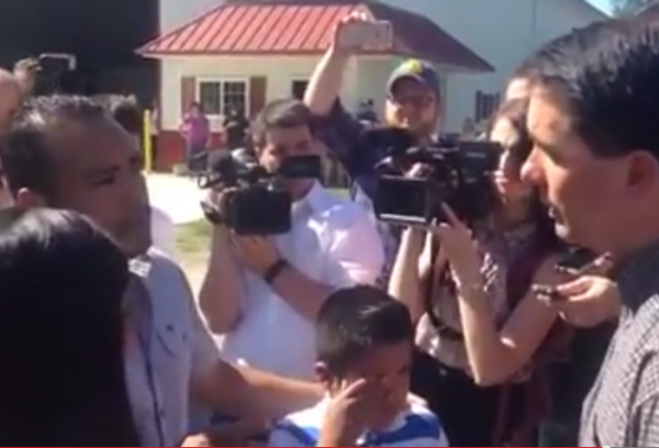 Scott Walker confronted by Illegal Immigrant and Chidren July 19, 2015