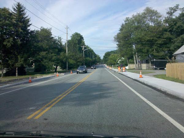 [Sidewalks being built with Stimulus Plan, Warren, RI,  2010]