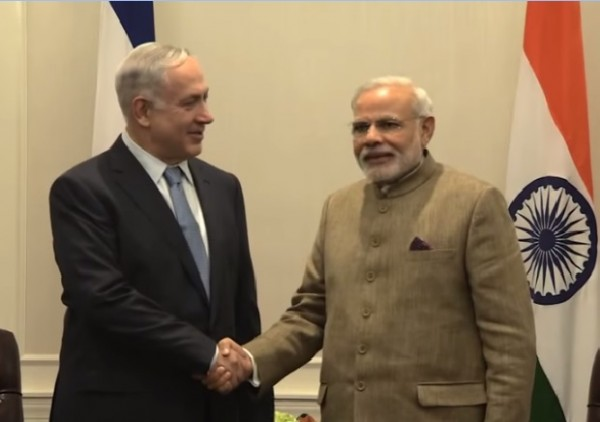 Benjamin Netanyahu and Narendra Modi in New York, May 28, 2014