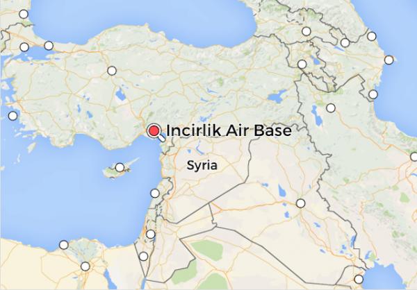 incirlik air base turkey map