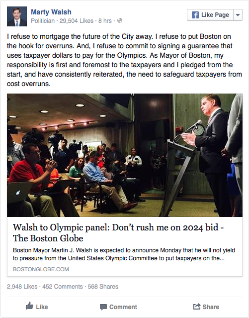 marty walsh boston olympic