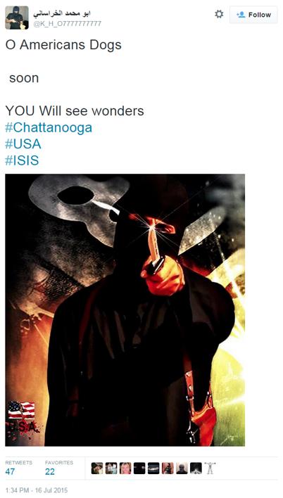 real ISIS chattanooga tweet