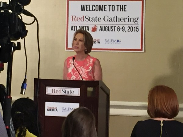 Carly Fiorina President 2016 RedState Gathering 2015 Press Conference Donald Trump Kemberlee Kaye