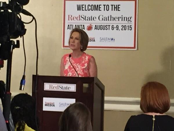 Carly Fiorina President 2016 RedState Gathering 2015 Press Conference Donald Trump Kemberlee Kaye