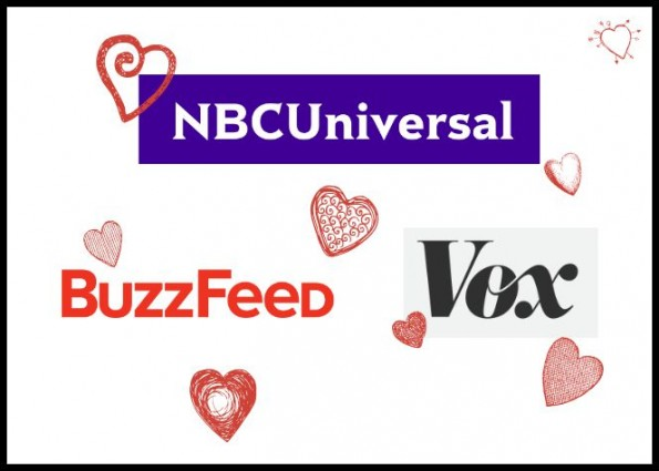 Comcast NBC Universal Buzzfeed Vox Media buys shares digital partnership media conglomeration