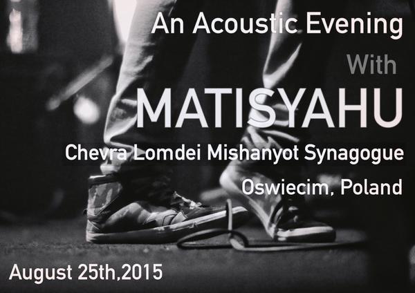Matishayu Concert announcement Oscwiecim Poland