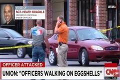 Officers walking on eggshells