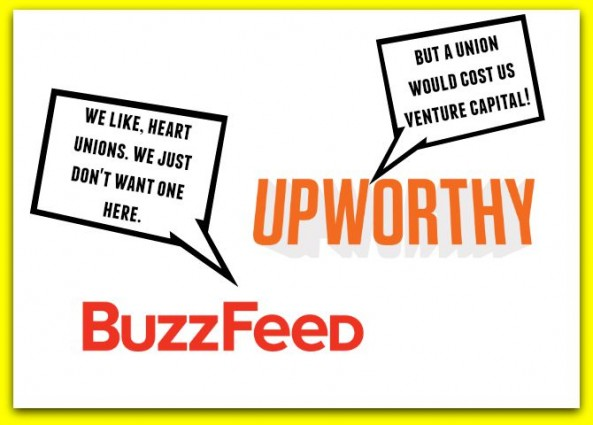 Progressive Buzzfeed and Upworthy discourage staff unionization gawker union media union democrat nlrb