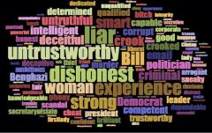 Q poll Hillary Word Cloud