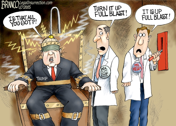 Trump Bashing | A.F. Branco | Conservative Cartoon