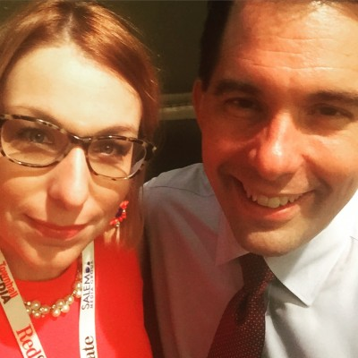 Wisconsin Governor Scott Walker RedState Gathering 2015 Kemberlee Kaye President 2016 Campaign