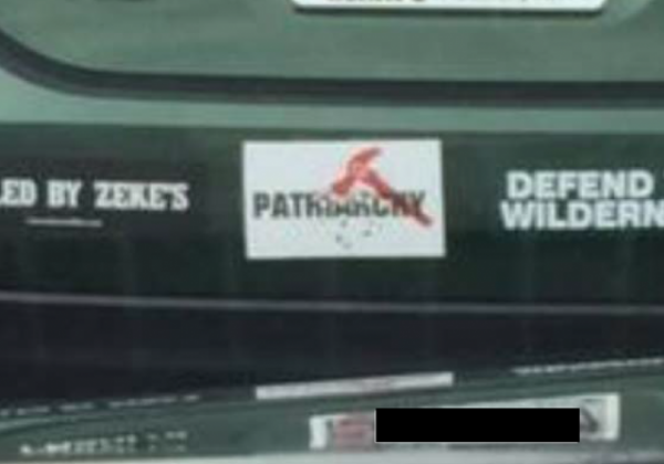 Bumper Sticker - Maryland - Patriarchy close up