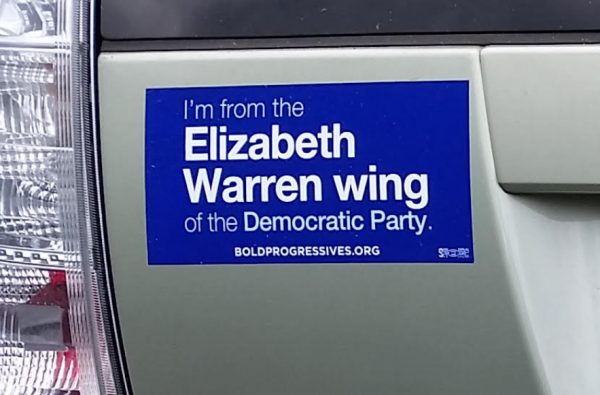 Bumper Stickers - Harrisonburg, VA - Elizabeth Warren Wing