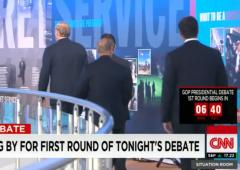 CNN Debate first round jv debate kids table santorum jindal pataki graham cnn debate hugh hewitt trump