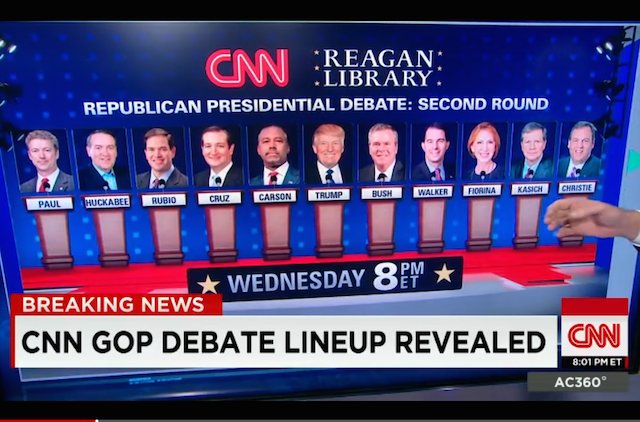 CNN debate lineup september 2015