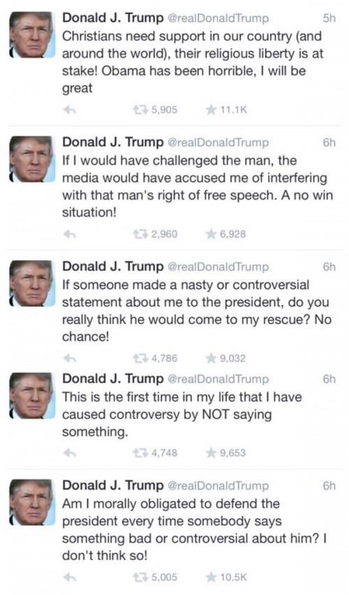 Donald Trump Twitter Obama Muslim tweets