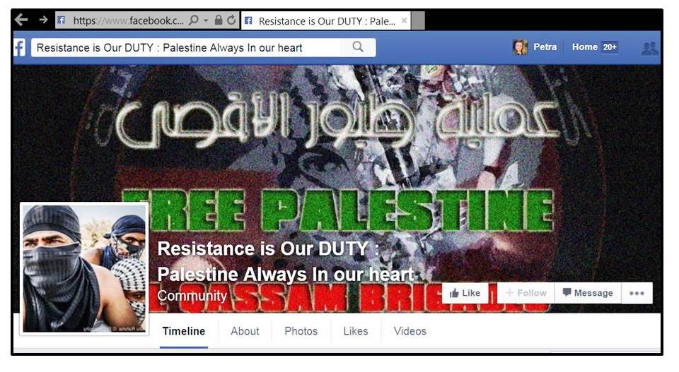 Resistance FB page liked by BT