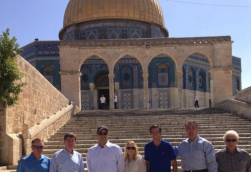 Members of US congressional delegation at the Temple Mount, August 2015 Credit: Israel Allies Foundation