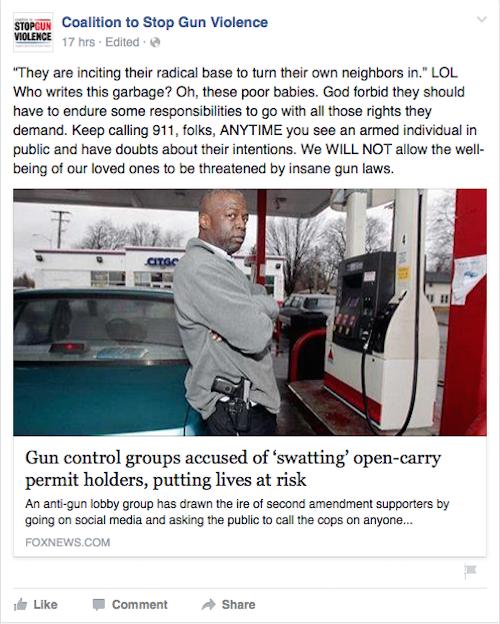 coalition gun violence swat facebook post