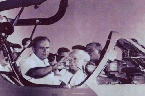 Al Schwimmer with David Ben-Gurion
