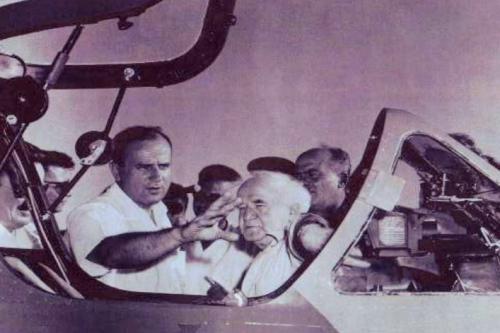 Al Schwimmer with David Ben-Gurion