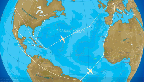 Al Schwimmer's Global Route