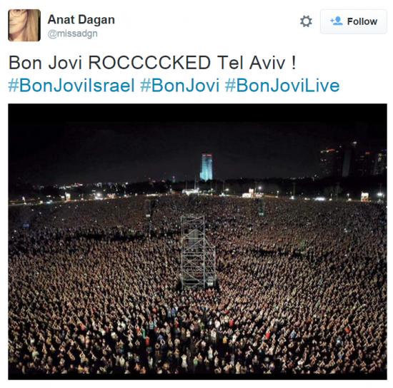 Bon Jovi Rocked Tel Aviv Twitter