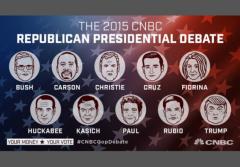 CNBC Debate 2015 Republican Candidates w border