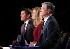 CNBC Debate Moderators side view