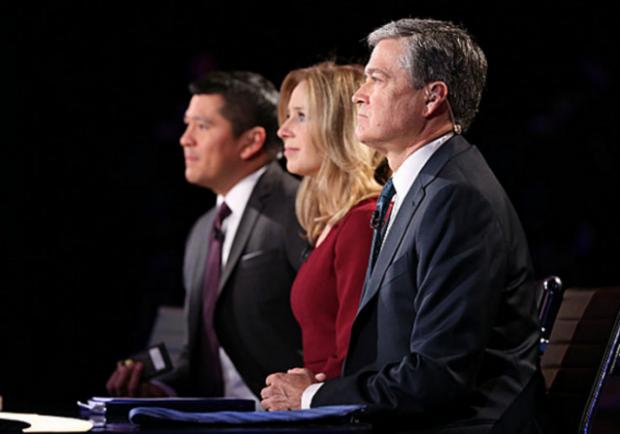 CNBC Debate Moderators side view