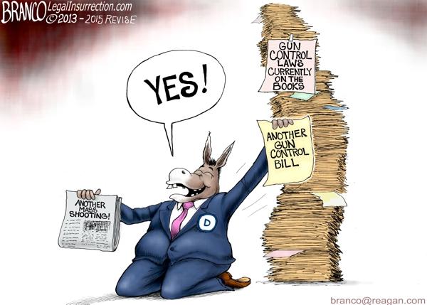 more gun laws af branco conservative cartoon