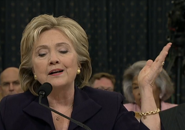 Hillary Benghazi Testimony 10-22-2015 hand flip