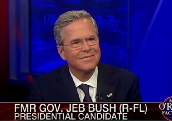 Jeb Bush on O'Reilly