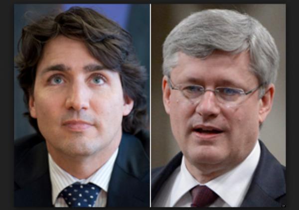 Justin Trudeau Stephen Harper