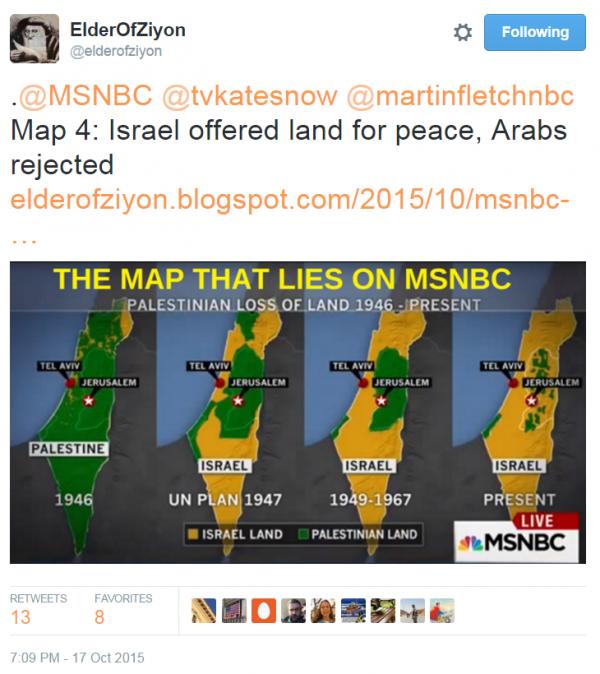 Map that Lies 4 - Elder Ziyon Twitter