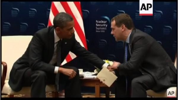Obama and Russian President Dmitry Medvedev in Seoul, Korea 2012