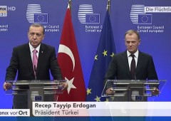 Press Conference, EU Council President Donald Tusk with Turkey's President Erdogan