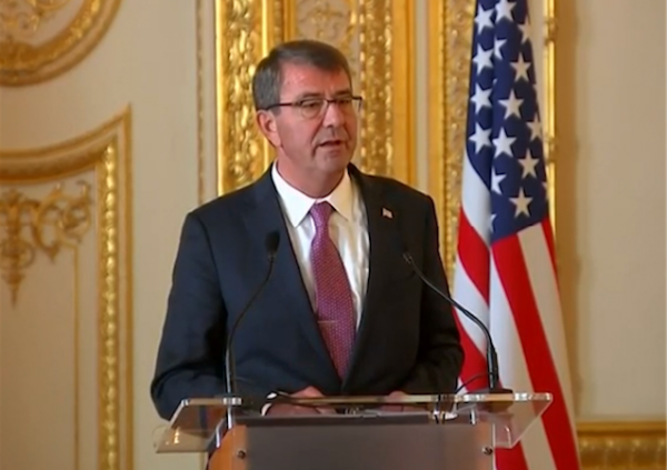 ash carter defense pentagon october 2015