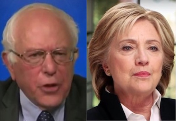 hillary clinton bernie sanders side by side