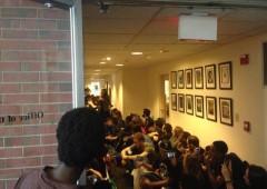 Brandeis Protest 11-20-2015 sit in